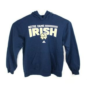 Adidas Notre Dame Hoodie Size Xl Fighting Blue